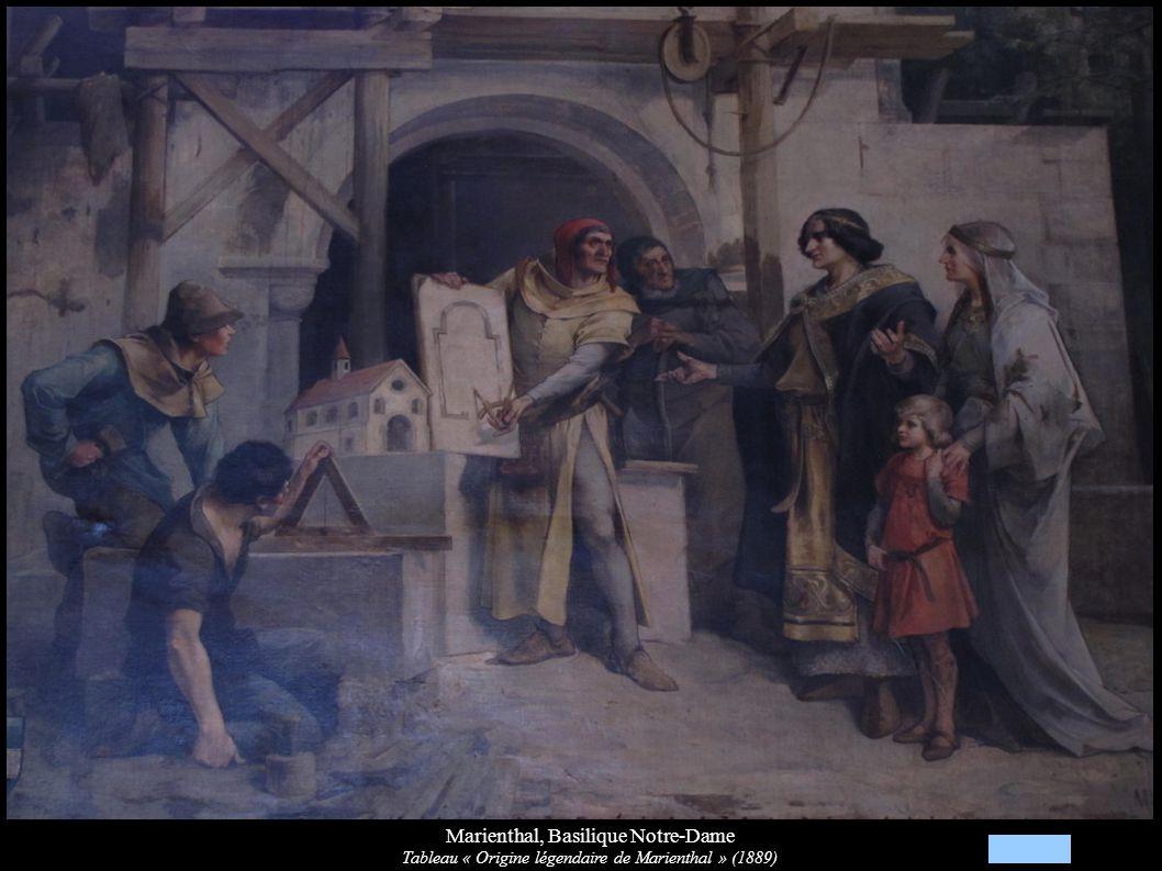 Marienthal, Basilique Notre-Dame Tableau « Origine légendaire de Marienthal » (1889)