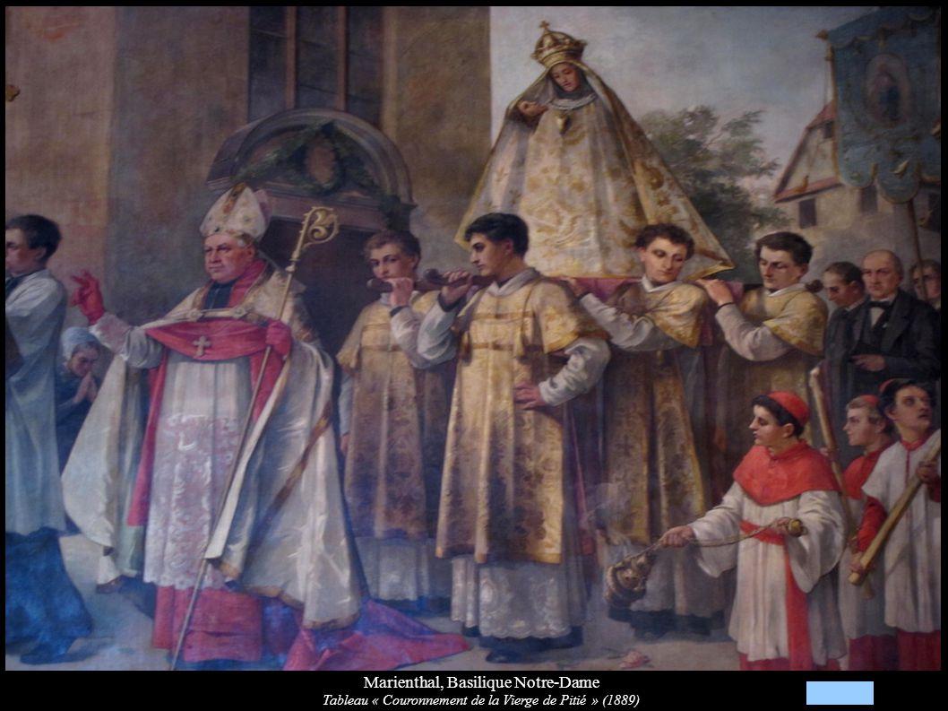 Marienthal, Basilique Notre-Dame Tableau « Couronnement de la Vierge de Pitié » (1889)