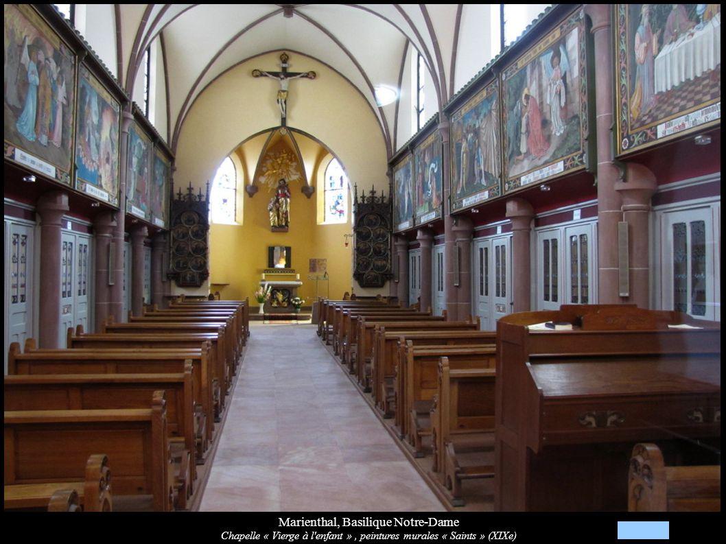 Marienthal, Basilique Notre-Dame Chapelle « Vierge à l'enfant », peintures murales « Saints » (XIXe)
