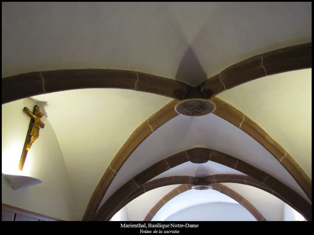 Marienthal, Basilique Notre-Dame Voûtes de la sacristie