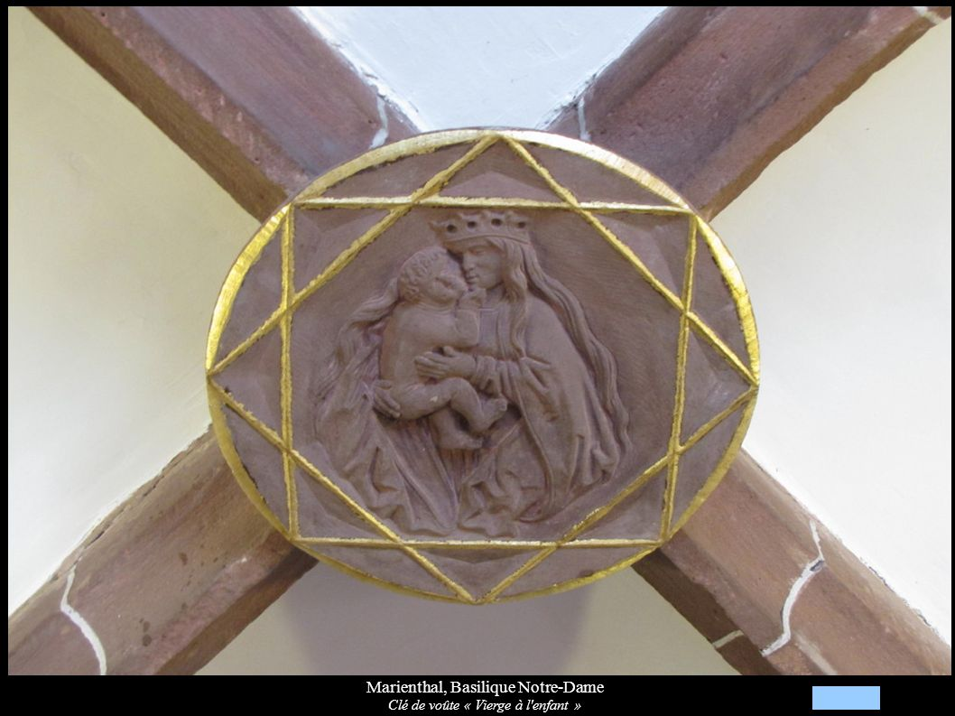 Marienthal, Basilique Notre-Dame Clé de voûte « Vierge à l'enfant »