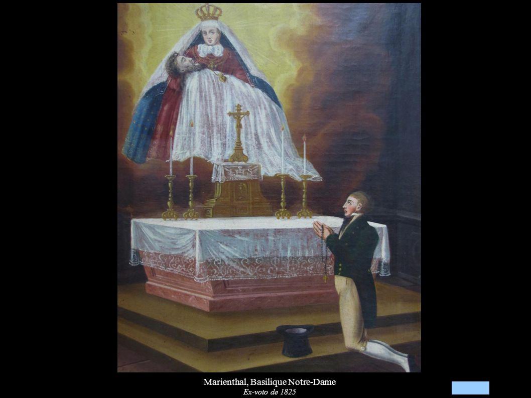Marienthal, Basilique Notre-Dame Ex-voto de 1825