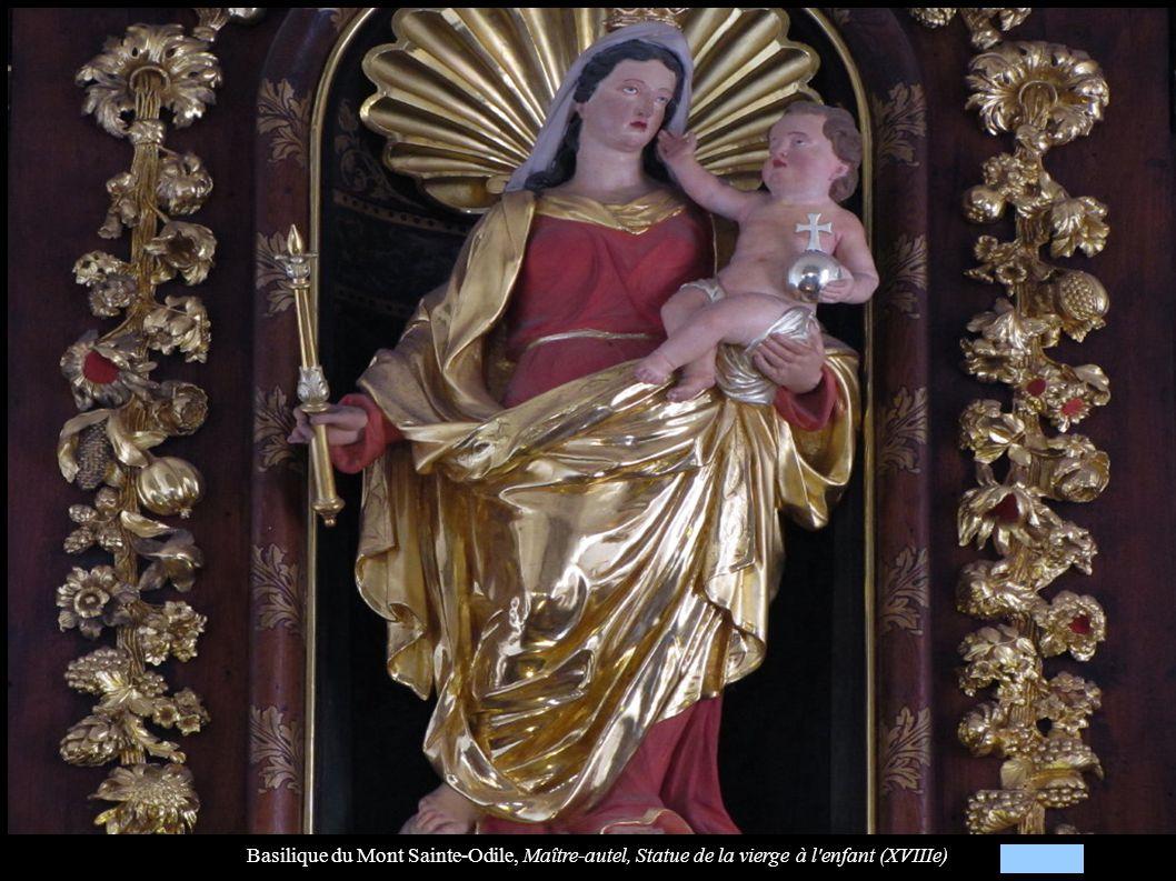 Basilique du Mont Sainte-Odile, Maître-autel, Statue de la vierge à l enfant (XVIIIe)