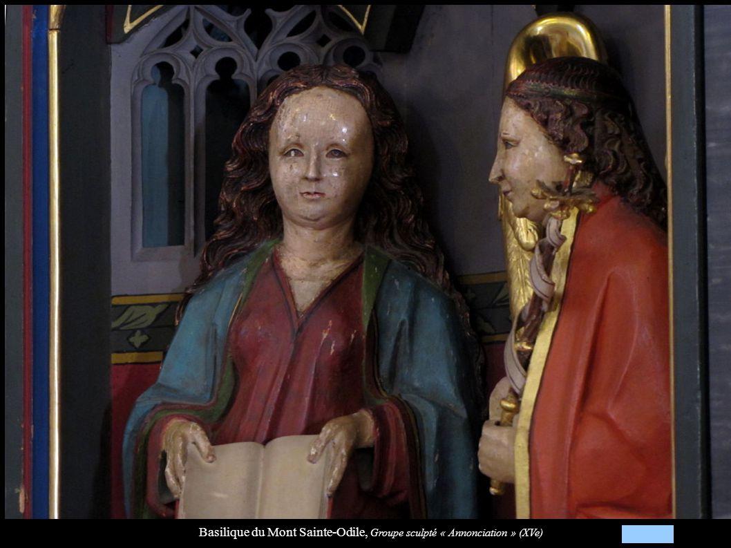 Basilique du Mont Sainte-Odile, Groupe sculpté « Annonciation » (XVe)