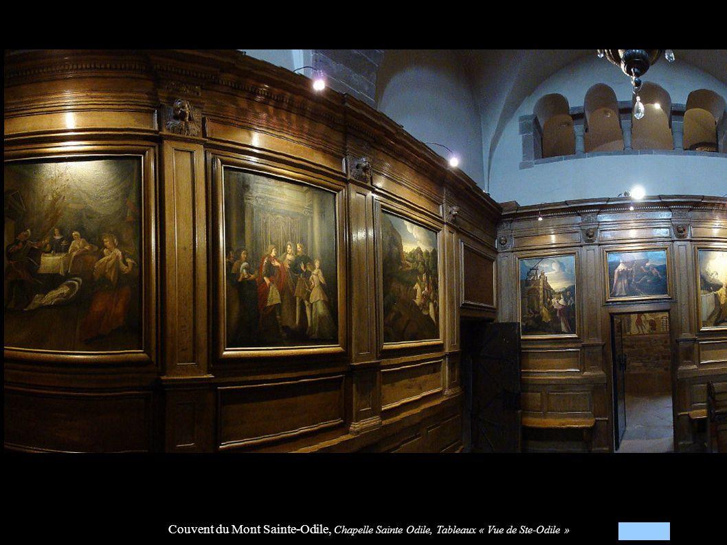 Couvent du Mont Sainte-Odile, Chapelle Sainte Odile, Tableaux « Vue de Ste-Odile »