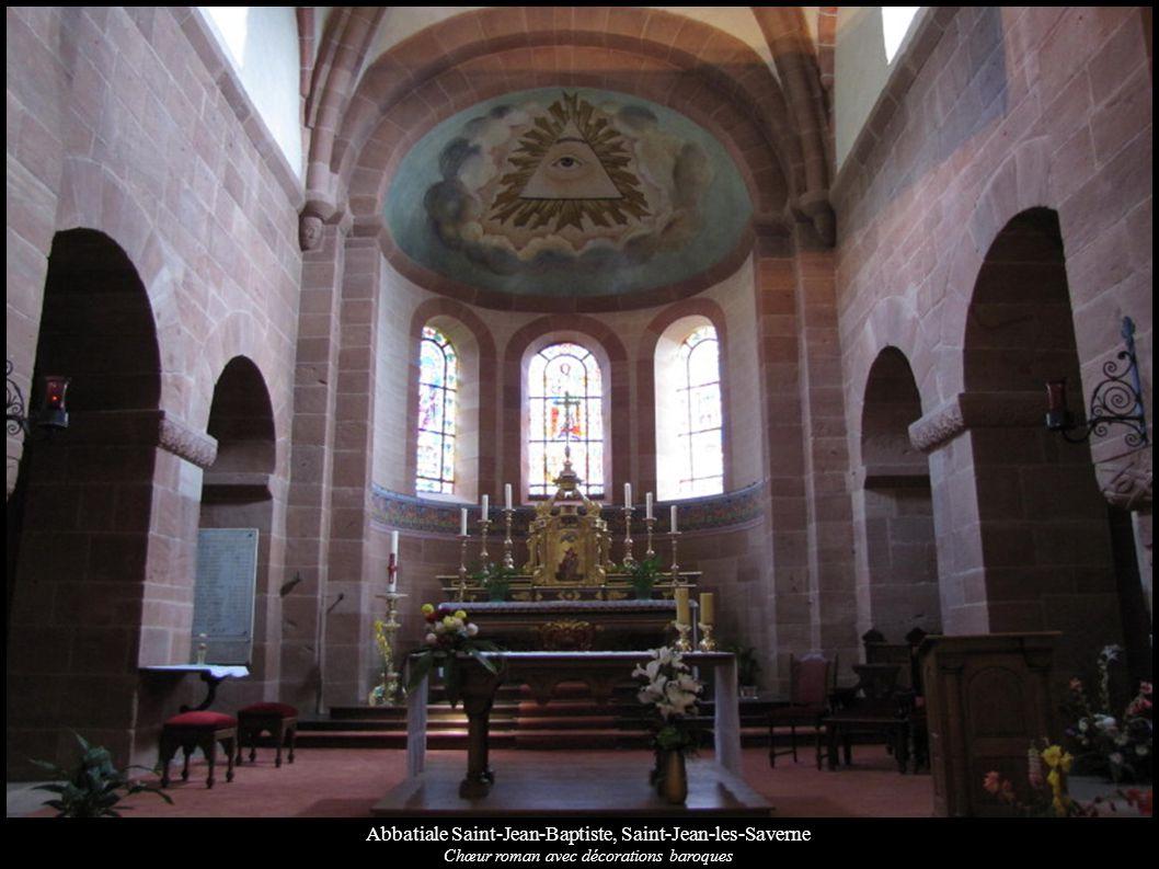 Abbatiale Saint-Jean-Baptiste, Saint-Jean-les-Saverne Chœur roman avec décorations baroques