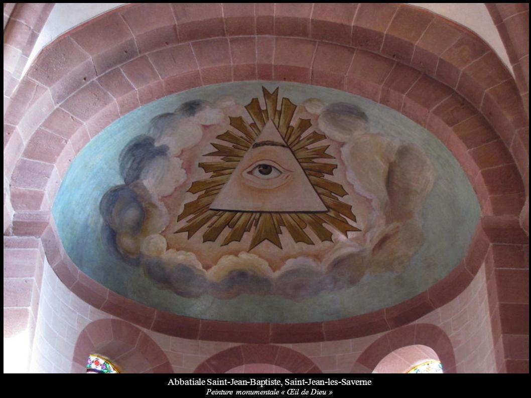 Abbatiale Saint-Jean-Baptiste, Saint-Jean-les-Saverne Peinture monumentale « Œil de Dieu »