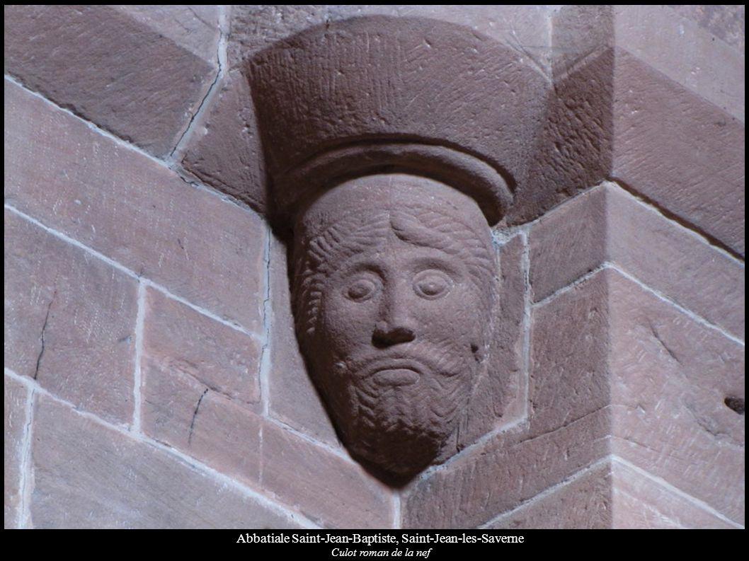 Abbatiale Saint-Jean-Baptiste, Saint-Jean-les-Saverne Culot roman de la nef