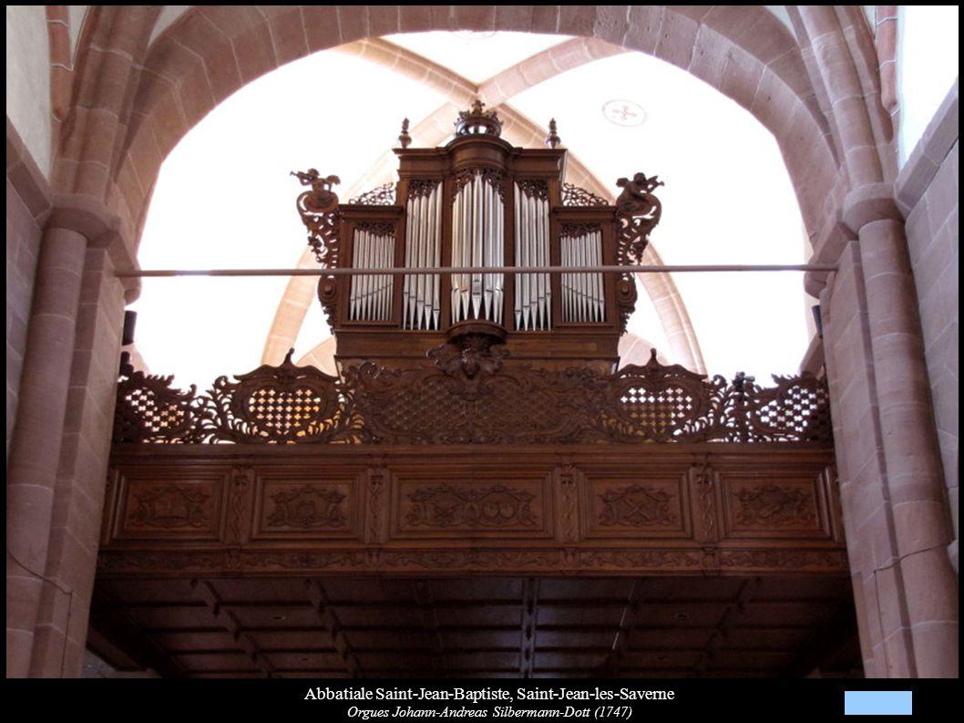 Abbatiale Saint-Jean-Baptiste, Saint-Jean-les-Saverne Orgues Johann-Andreas Silbermann-Dott (1747)