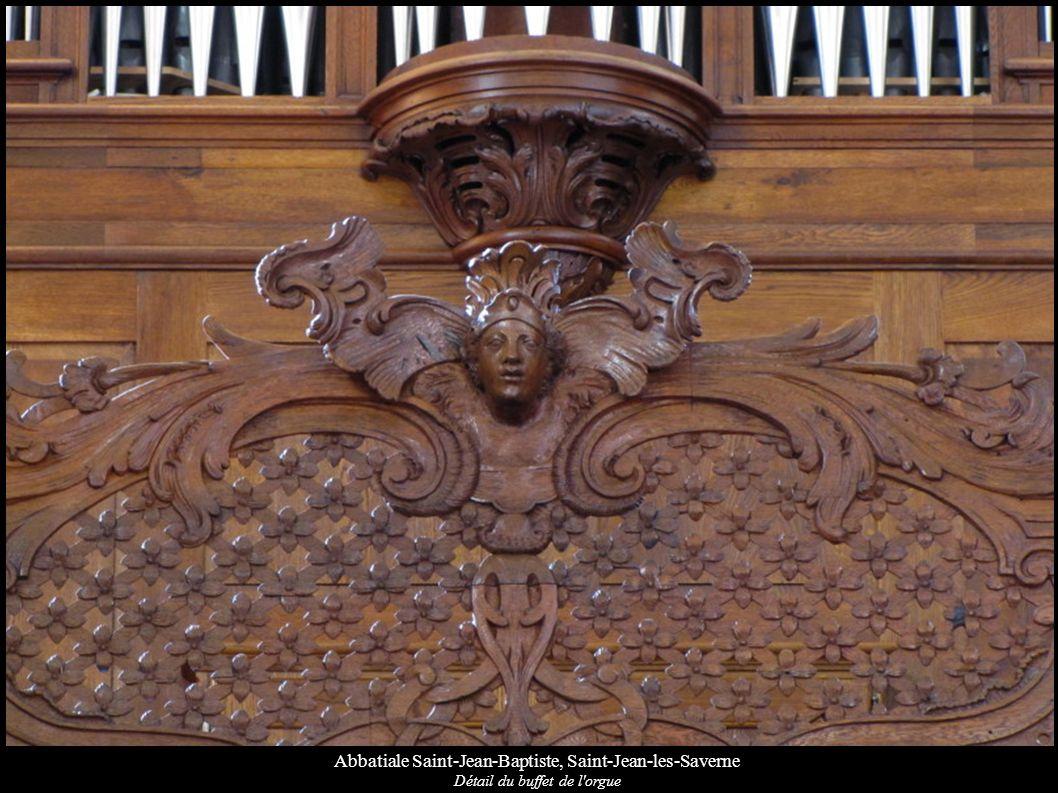 Abbatiale Saint-Jean-Baptiste, Saint-Jean-les-Saverne Détail du buffet de l'orgue