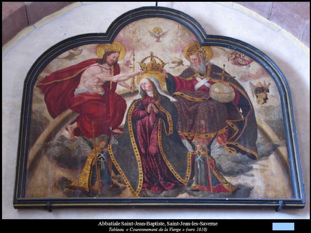 Abbatiale Saint-Jean-Baptiste, Saint-Jean-les-Saverne Tableau « Couronnement de la Vierge » (vers 1610)