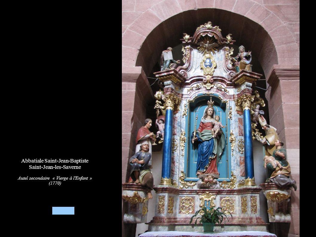 Abbatiale Saint-Jean-Baptiste Saint-Jean-les-Saverne Autel secondaire « Vierge à l'Enfant » (1770)