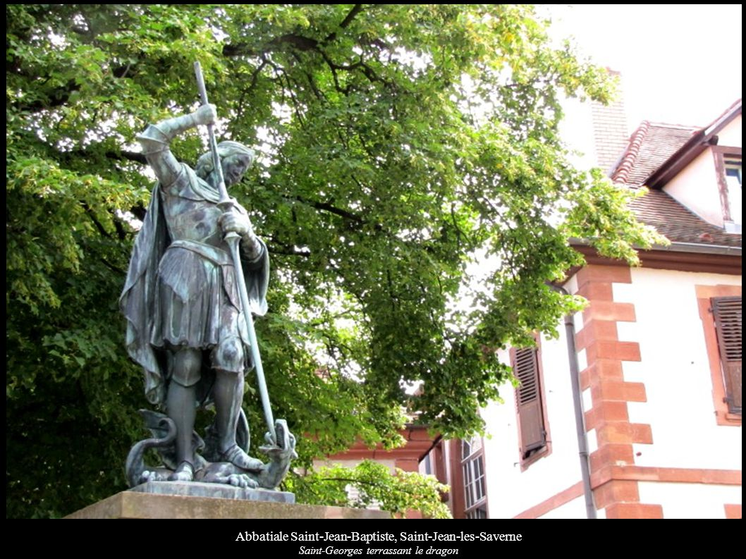 Abbatiale Saint-Jean-Baptiste, Saint-Jean-les-Saverne Statues de Saint-Blaise et d une femme portant un cadavre d enfant