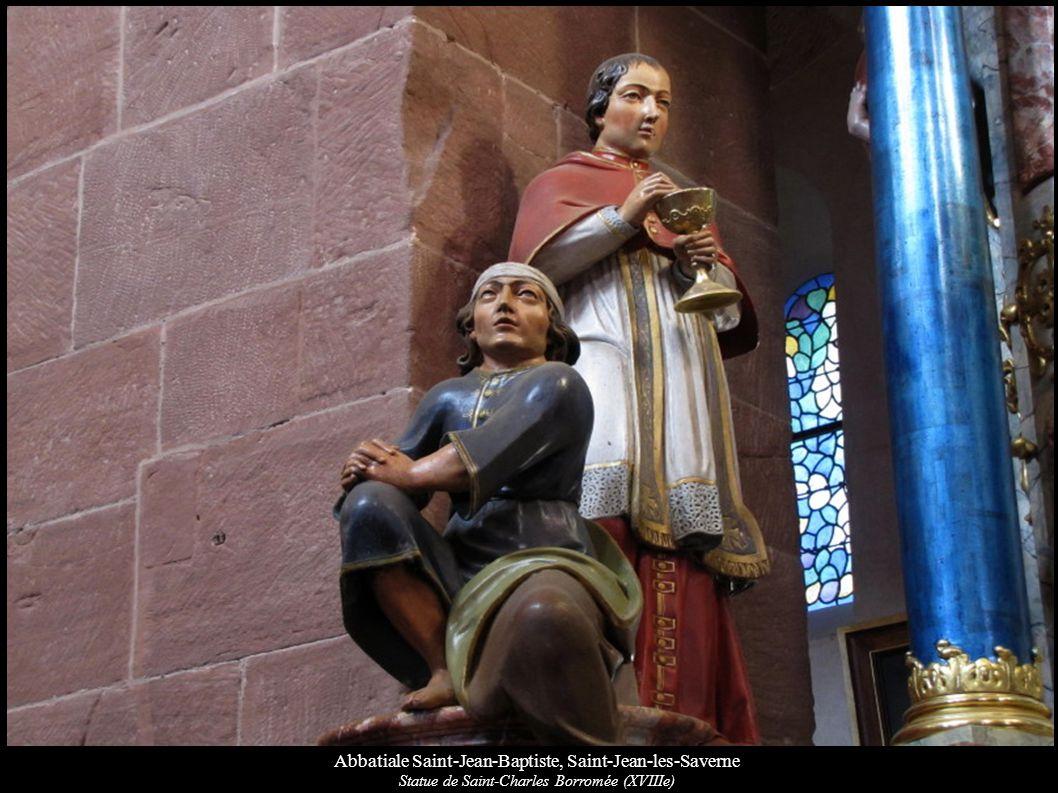 Abbatiale Saint-Jean-Baptiste, Saint-Jean-les-Saverne Statue de Saint-Charles Borromée (XVIIIe)