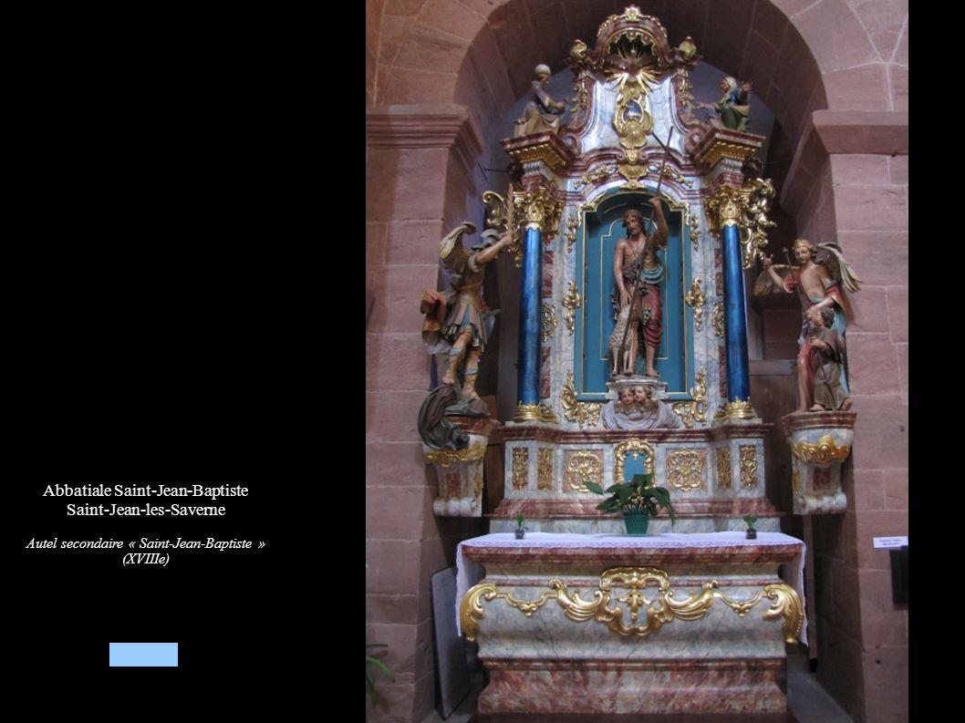 Abbatiale Saint-Jean-Baptiste Saint-Jean-les-Saverne Autel secondaire « Saint-Jean-Baptiste » (XVIIIe)