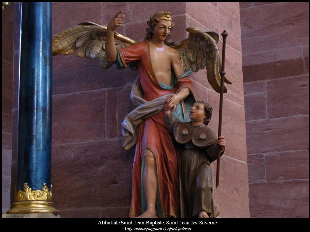 Abbatiale Saint-Jean-Baptiste, Saint-Jean-les-Saverne Ange accompagnant l'enfant-pèlerin