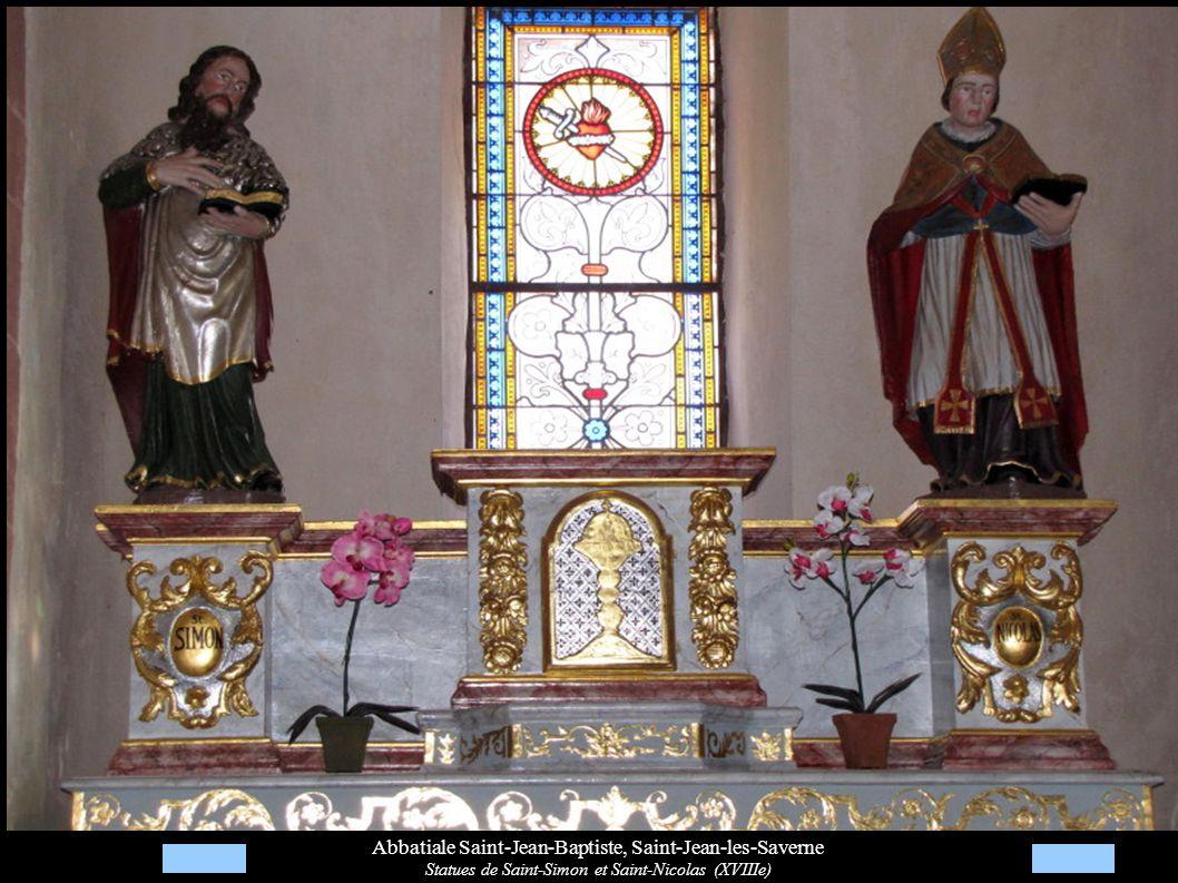 Abbatiale Saint-Jean-Baptiste, Saint-Jean-les-Saverne Statues de Saint-Simon et Saint-Nicolas (XVIIIe)