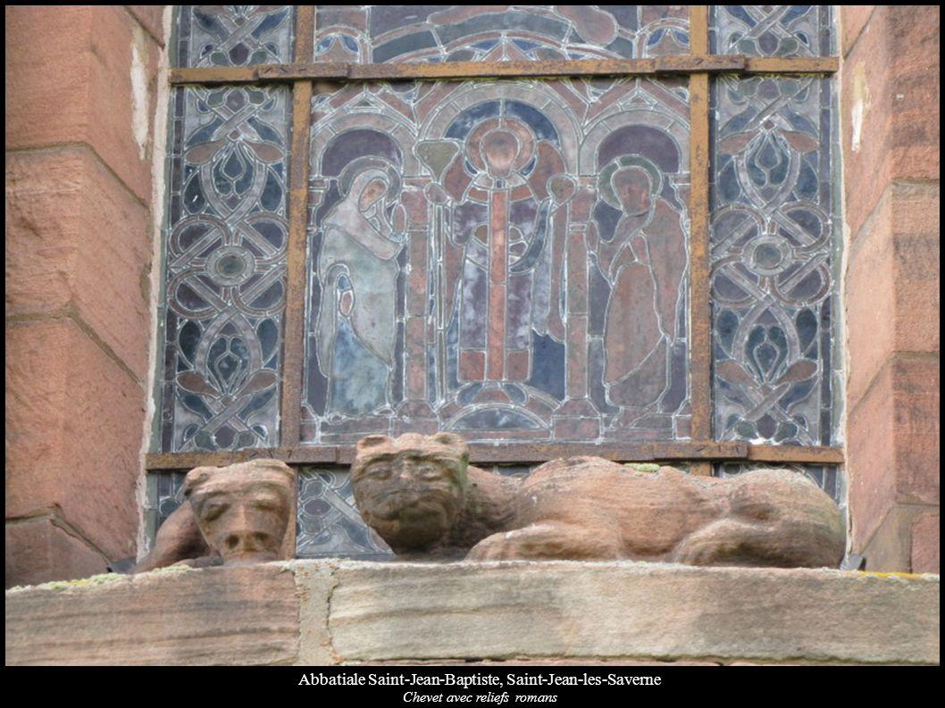 Abbatiale Saint-Jean-Baptiste, Saint-Jean-les-Saverne Chevet avec reliefs romans