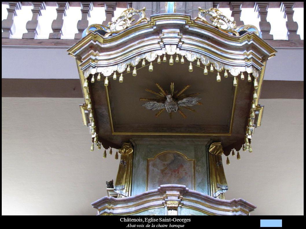 Châtenois, Eglise Saint-Georges Abat-voix de la chaire baroque