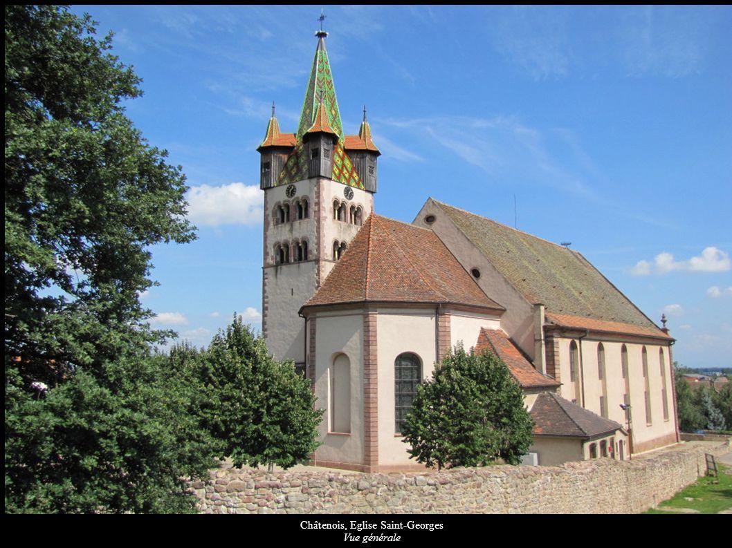 Châtenois, Eglise Saint-Georges Tableau « Immaculée Conception », Statues de St-Etienne et St-Laurent (XVIIIe)