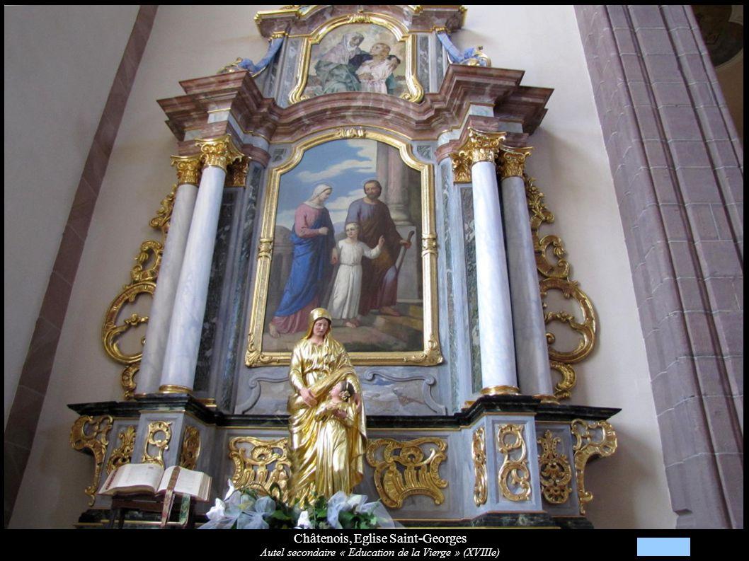 Châtenois, Eglise Saint-Georges Autel secondaire « Education de la Vierge » (XVIIIe)