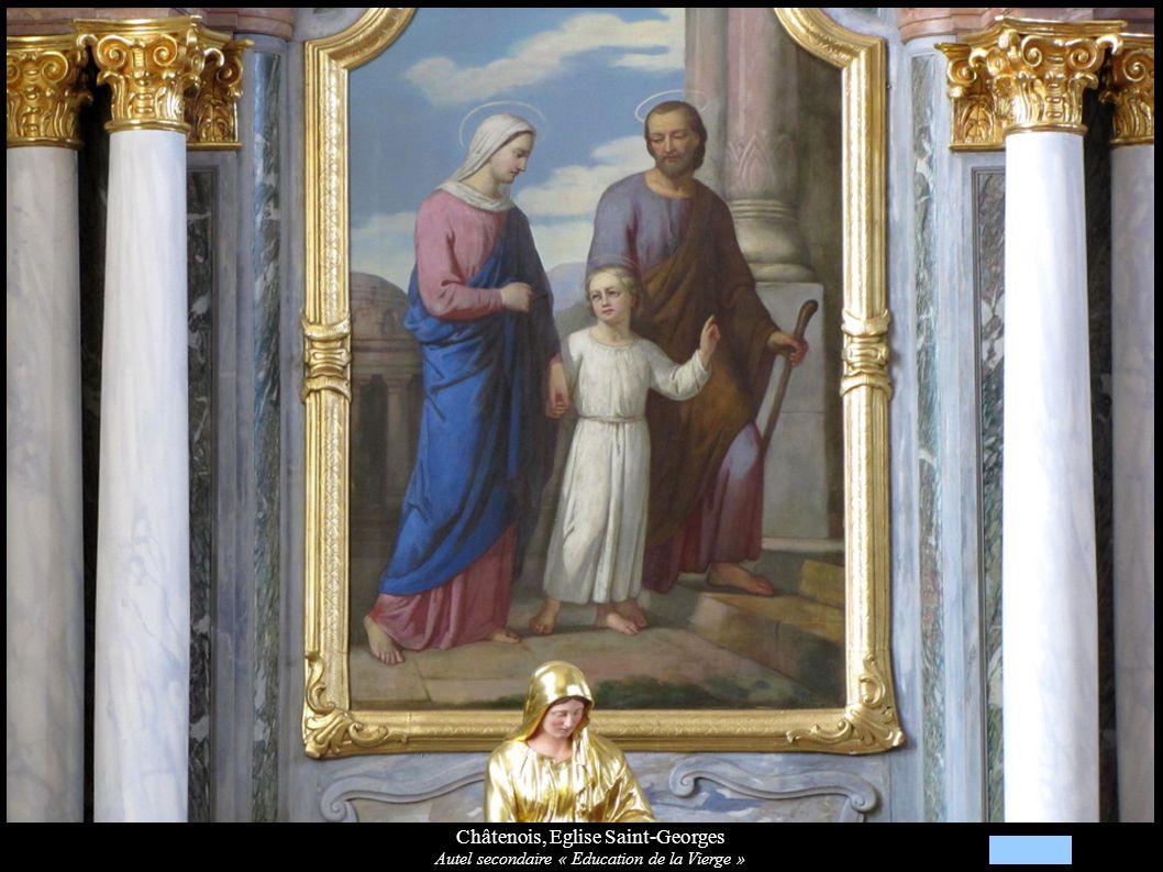 Châtenois, Eglise Saint-Georges Autel secondaire « Education de la Vierge »