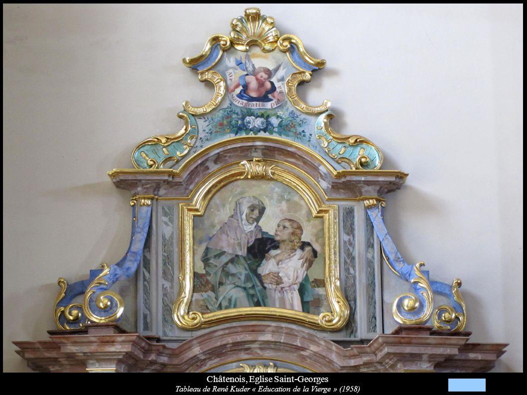 Châtenois, Eglise Saint-Georges Tableau de René Kuder « Education de la Vierge » (1958)