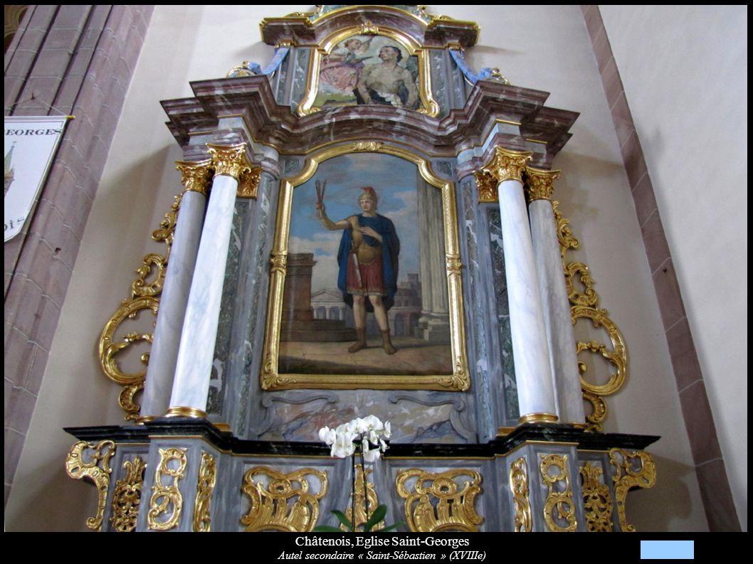 Châtenois, Eglise Saint-Georges Autel secondaire « Saint-Sébastien » (XVIIIe)