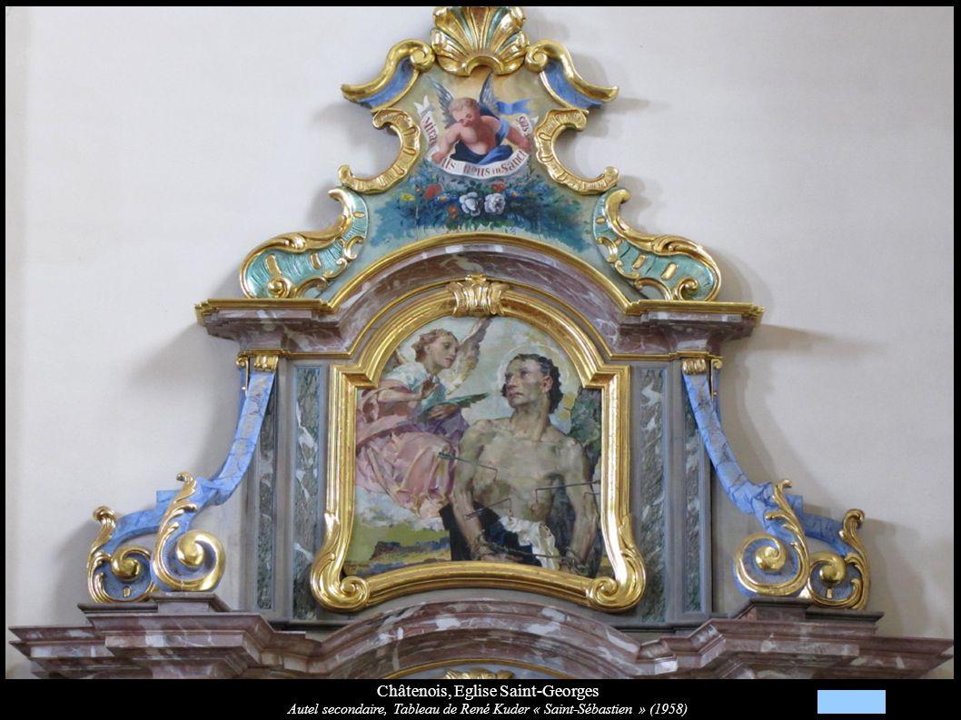 Châtenois, Eglise Saint-Georges Autel secondaire, Tableau de René Kuder « Saint-Sébastien » (1958)