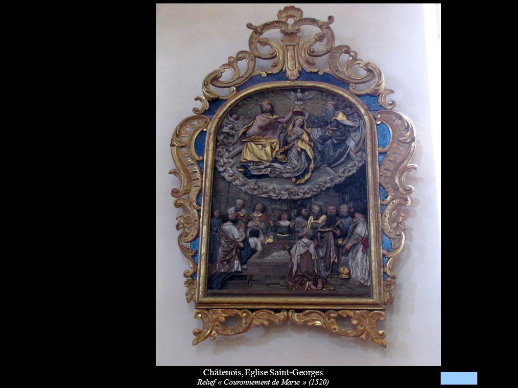 Châtenois, Eglise Saint-Georges Relief « Couronnement de Marie » (1520)
