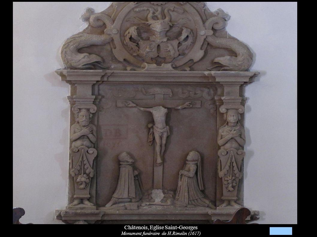Châtenois, Eglise Saint-Georges Monument funéraire de H.Rimelin (1617)