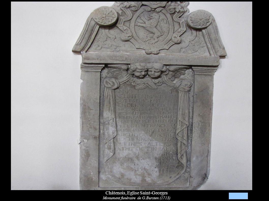 Châtenois, Eglise Saint-Georges Monument funéraire de G.Bursten (1713)