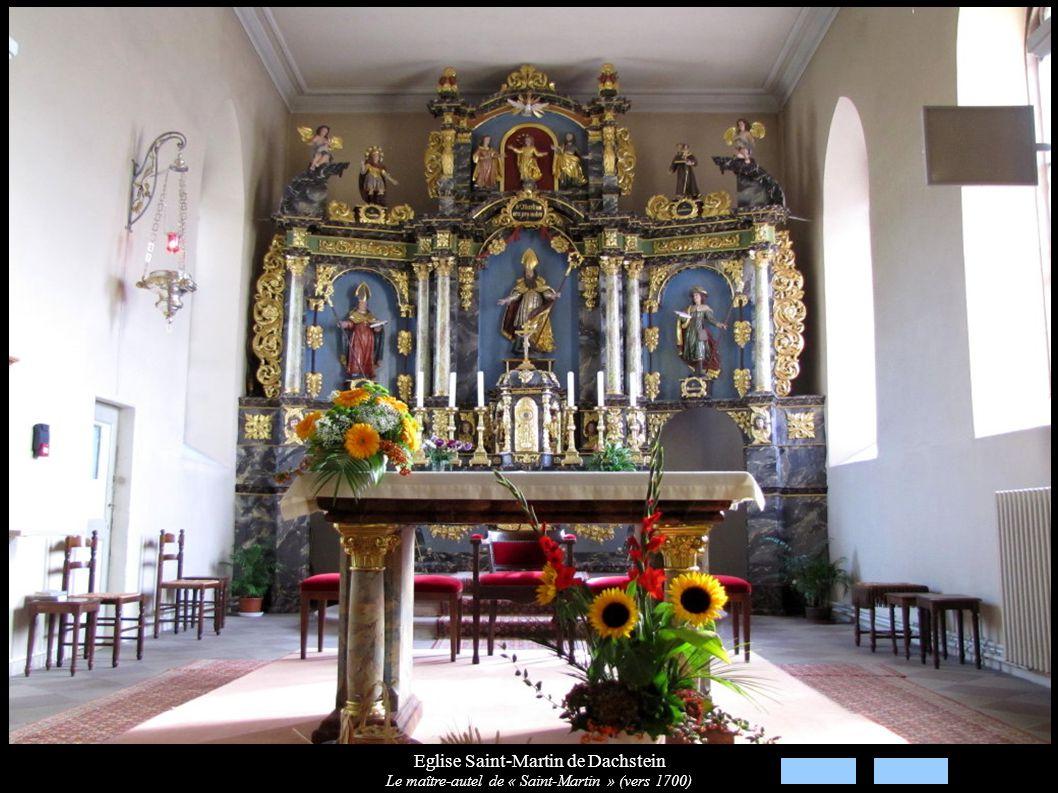 Eglise Saint-Martin de Dachstein Le maître-autel de « Saint-Martin » (vers 1700)
