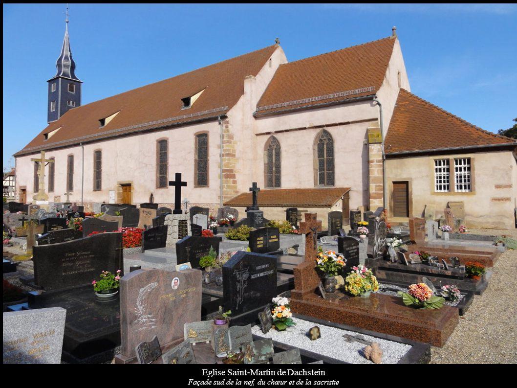 Eglise Saint-Martin de Dachstein Le tabernacle du maître-autel de « Saint-Martin » (vers 1700); Les chandeliers d autel (XIXe)