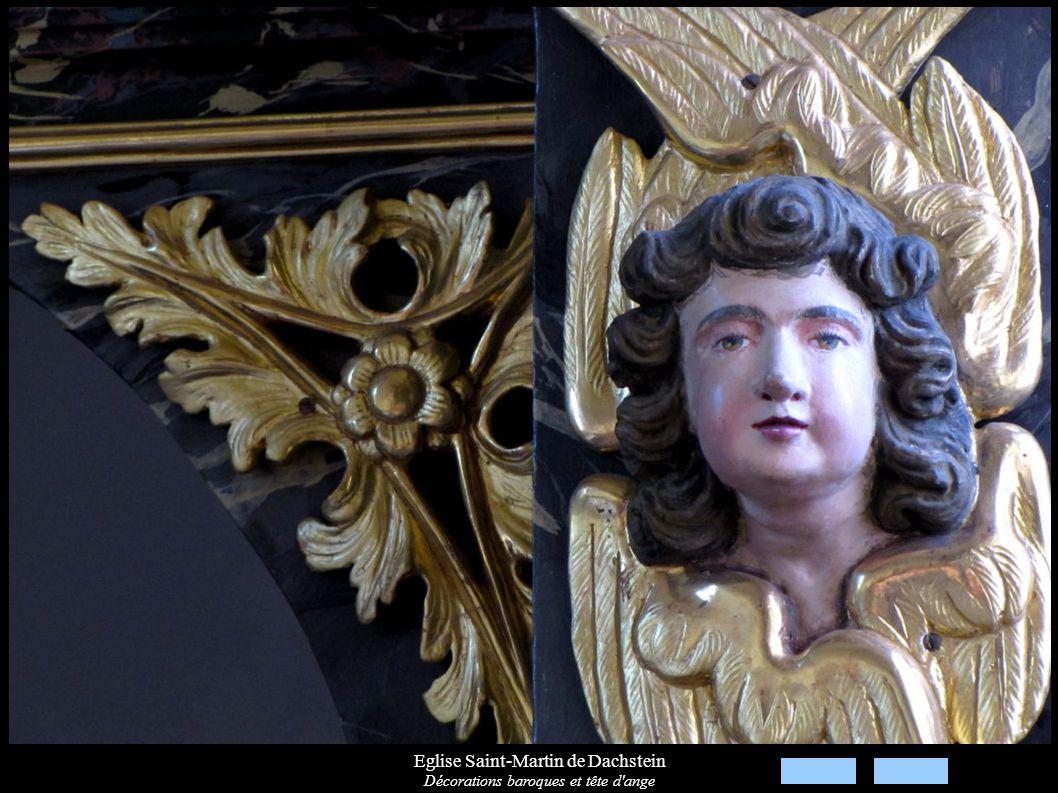 Eglise Saint-Martin de Dachstein Décorations baroques et tête d'ange