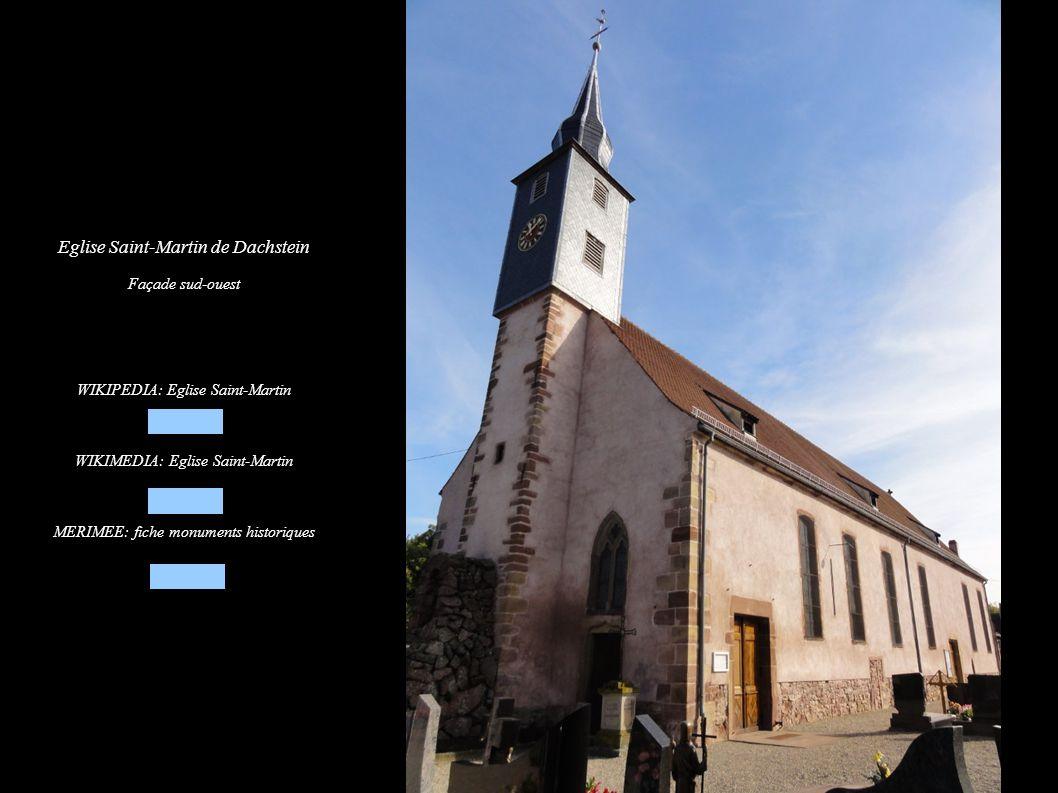 Eglise Saint-Martin de Dachstein Vue intérieure de la nef vers la tribune d orgue