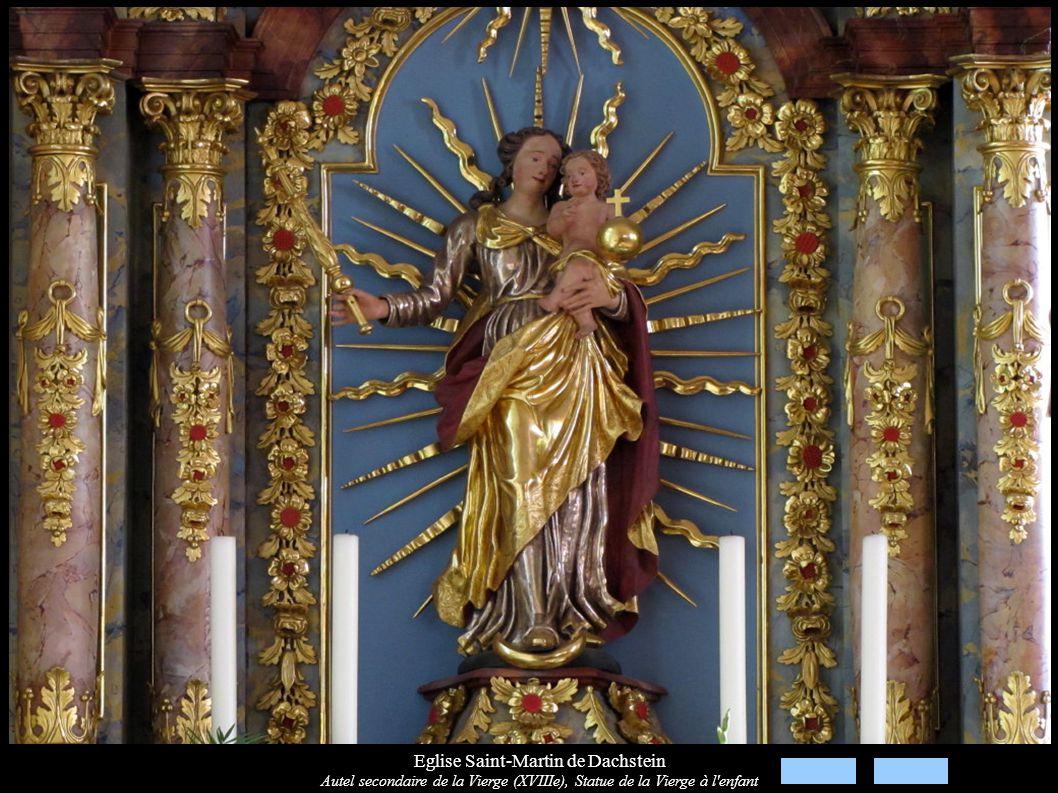 Eglise Saint-Martin de Dachstein Autel secondaire de la Vierge (XVIIIe), Statue de la Vierge à l'enfant