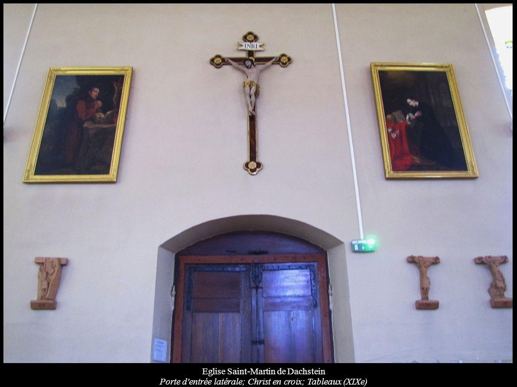 Eglise Saint-Martin de Dachstein Porte d'entrée latérale; Christ en croix; Tableaux (XIXe)
