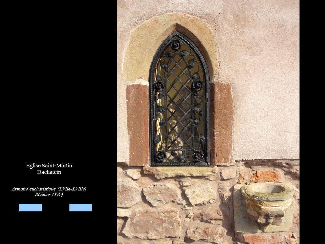 Eglise Saint-Martin Dachstein Armoire eucharistique (XVIIe-XVIIIe) Bénitier (XVe)