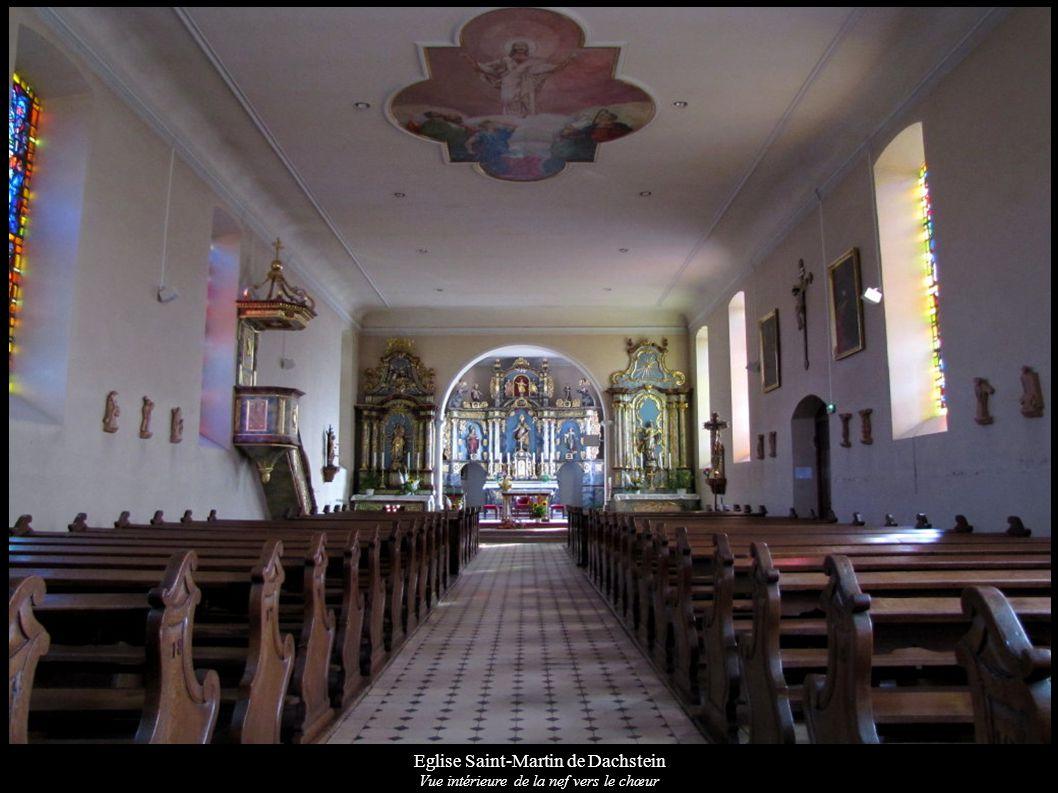Eglise Saint-Martin de Dachstein Vue intérieure de la nef vers le chœur