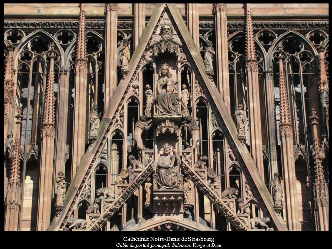 Cathédrale Notre-Dame de Strasbourg Gable du portail principal: Salomon, Vierge et Dieu