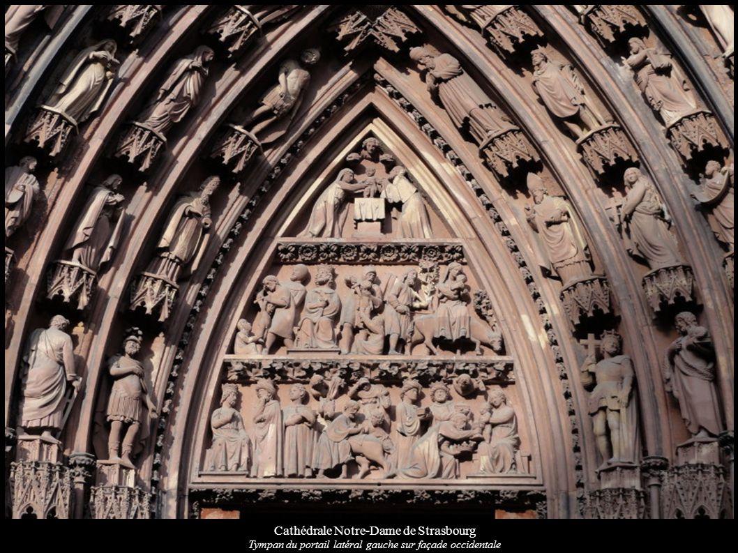 Cathédrale Notre-Dame de Strasbourg Tympan du portail latéral gauche sur façade occidentale