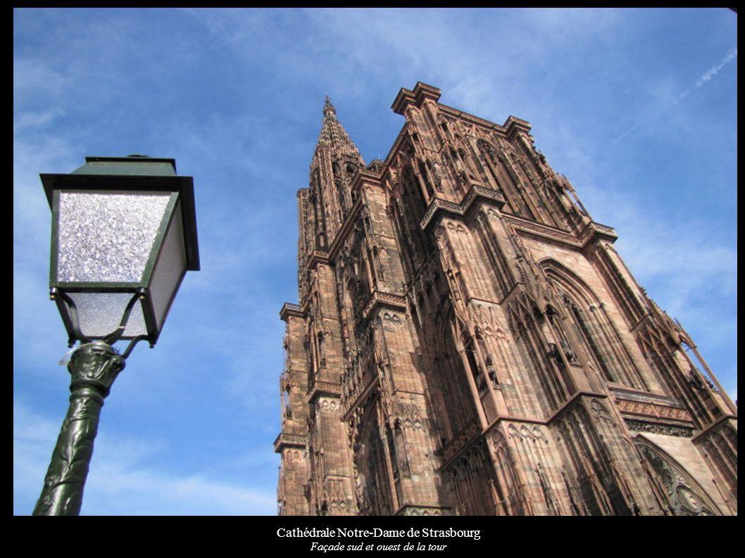 Cathédrale Notre-Dame de Strasbourg Façade sud et ouest de la tour