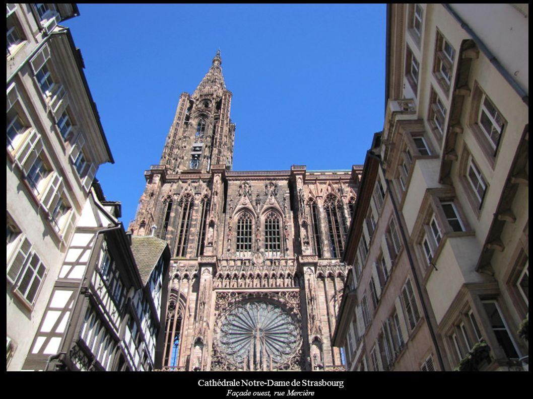 Cathédrale Notre-Dame de Strasbourg Façade occidentale à partir de la rue Mercière Wikipédia Wikimedia Base Mérimée
