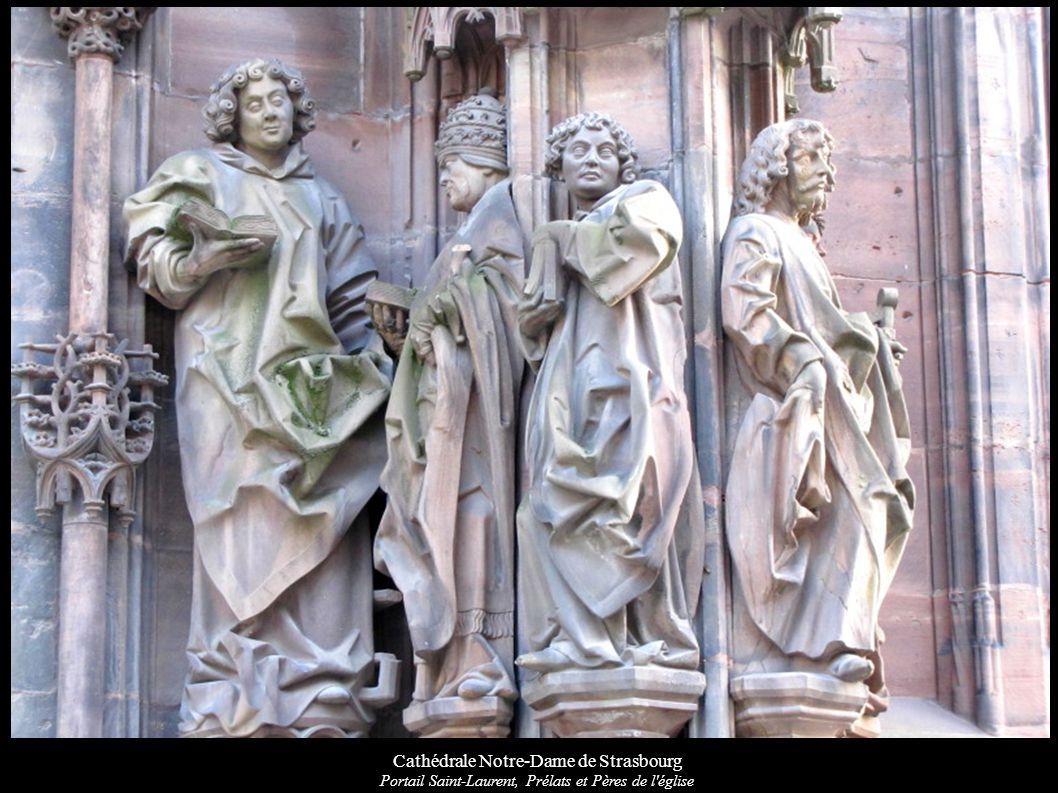Cathédrale Notre-Dame de Strasbourg Portail Saint-Laurent, Prélats et Pères de l église