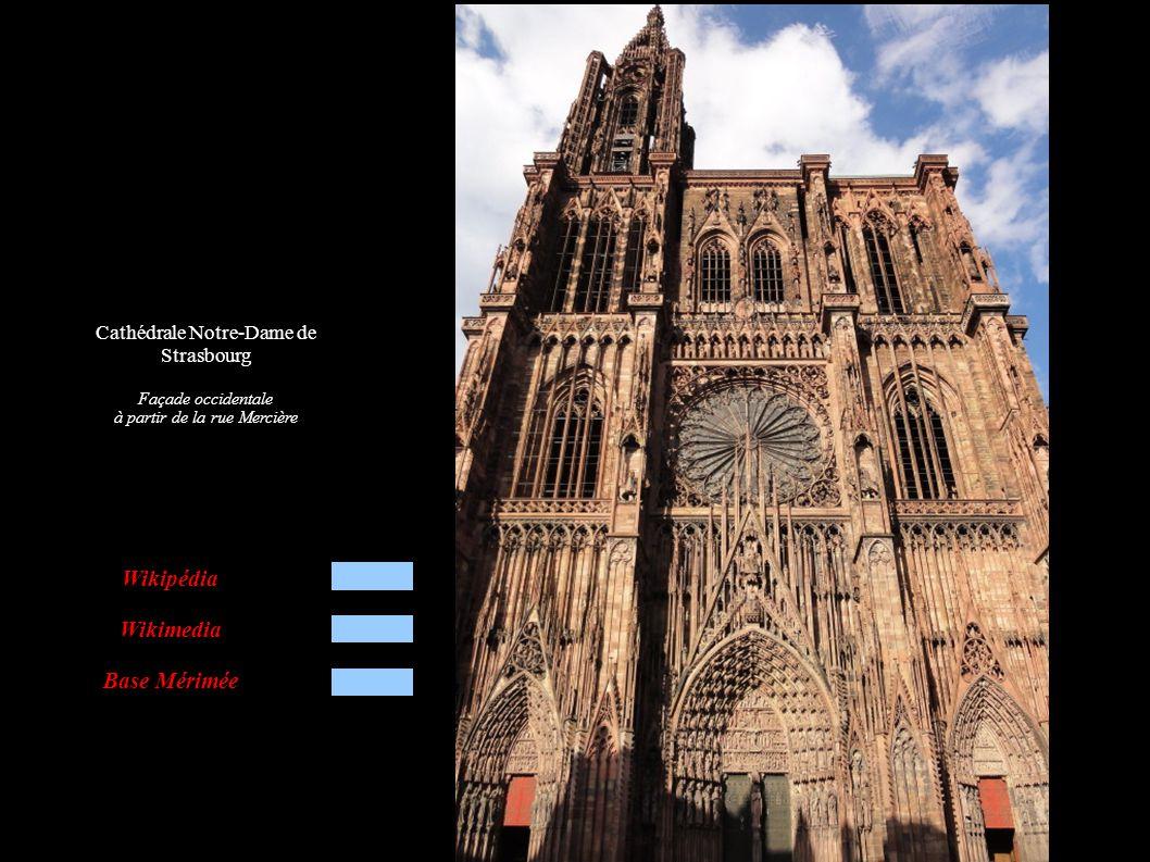Cathédrale Notre-Dame de Strasbourg Quelques saints et pères de l église sur portail latéral gauche