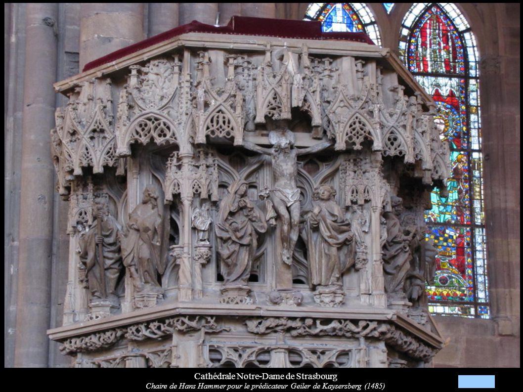 Cathédrale Notre-Dame de Strasbourg Chaire de Hans Hammer pour le prédicateur Geiler de Kaysersberg (1485)