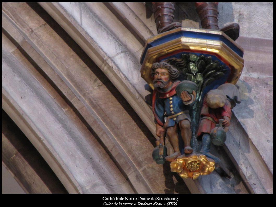 Cathédrale Notre-Dame de Strasbourg Culot de la statue « Vendeurs d'eau » (XIVe)
