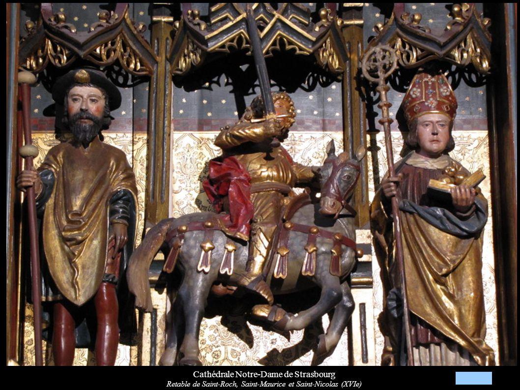Cathédrale Notre-Dame de Strasbourg Retable de Saint-Roch, Saint-Maurice et Saint-Nicolas (XVIe)