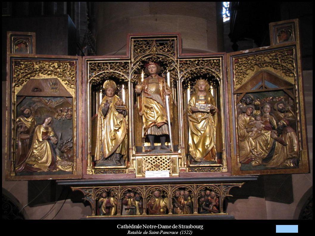 Cathédrale Notre-Dame de Strasbourg Retable de Saint-Pancrace (1522)
